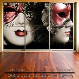Maski Weneckie - dekoracja na szafę