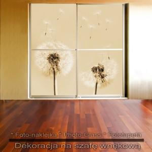 Dmuchawce - dekoracja na szafę