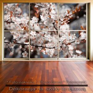 Gałązka kwiatów - dekoracja na szafę