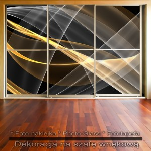 Linie Abstrakcja - dekoracja na szafę