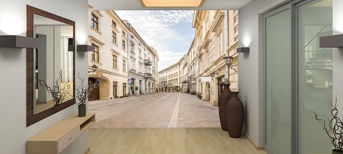Fototapeta do przedpokoju uliczka - aranżacja