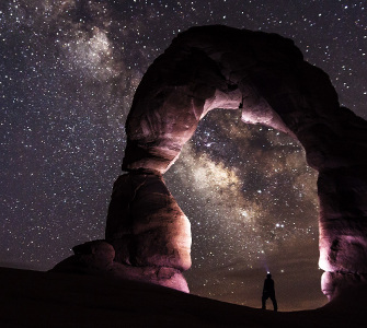Widok nieba nocą