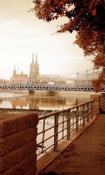 Jesienny widok na miasto