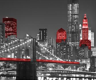 Widok Nowego Jorku nocą