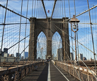 Most Brookliński na fototapecie